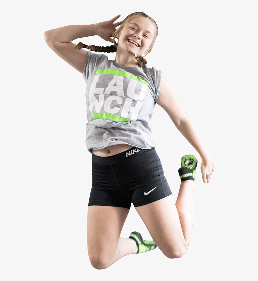 Girls Jumping At Sky Zone, Transparent Clipart