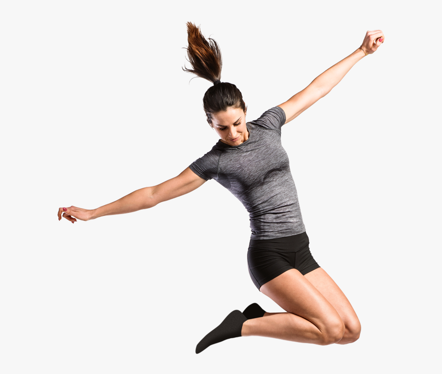 A Girl Jumping Through The Air - Girls Jumping At Sky Zone, Transparent Clipart