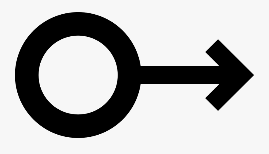 Circle Outline Of Small Size Connected To Arrow Pointing - Circle With Arrow Pointing To The Right, Transparent Clipart