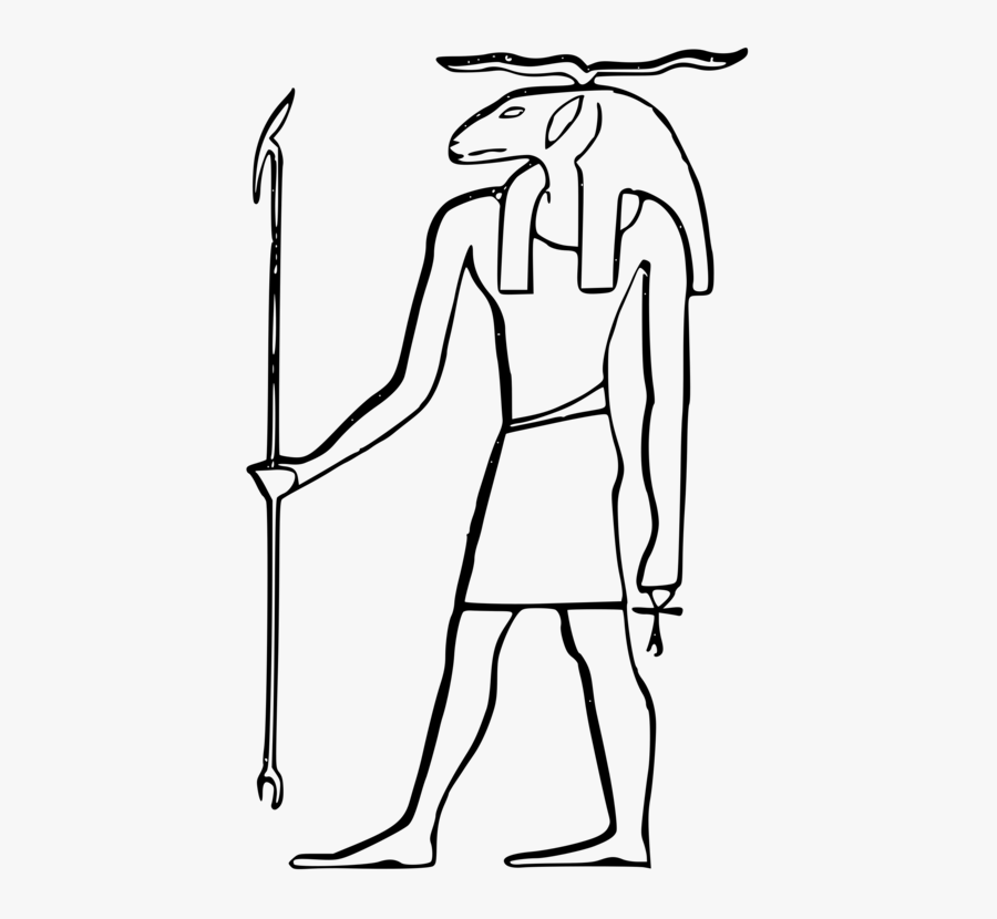 Art,shoe,human - Ancient Egypt Gods Drawing, Transparent Clipart