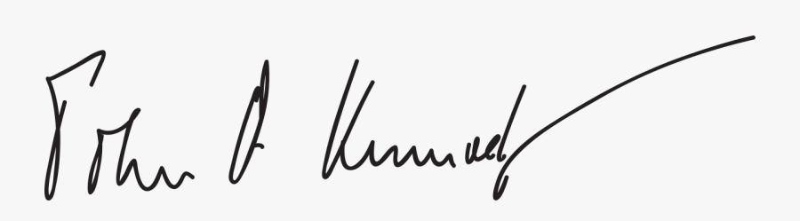 John F Kennedy Signature, Transparent Clipart