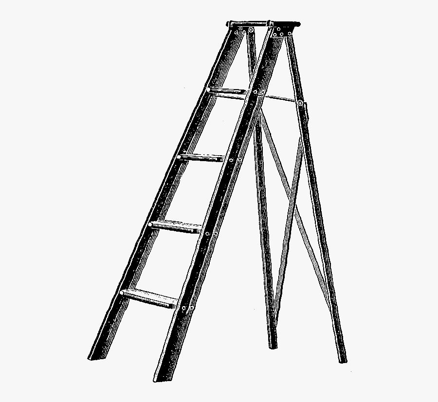 Ladder Vintage Illustration, Transparent Clipart