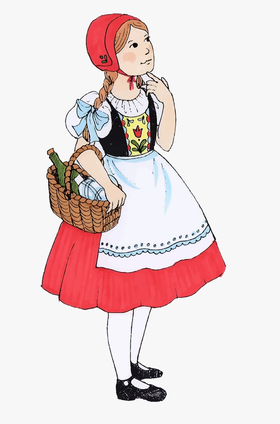 Children Famous Female Free Photo - Little Red Riding Hood Png, Transparent Clipart