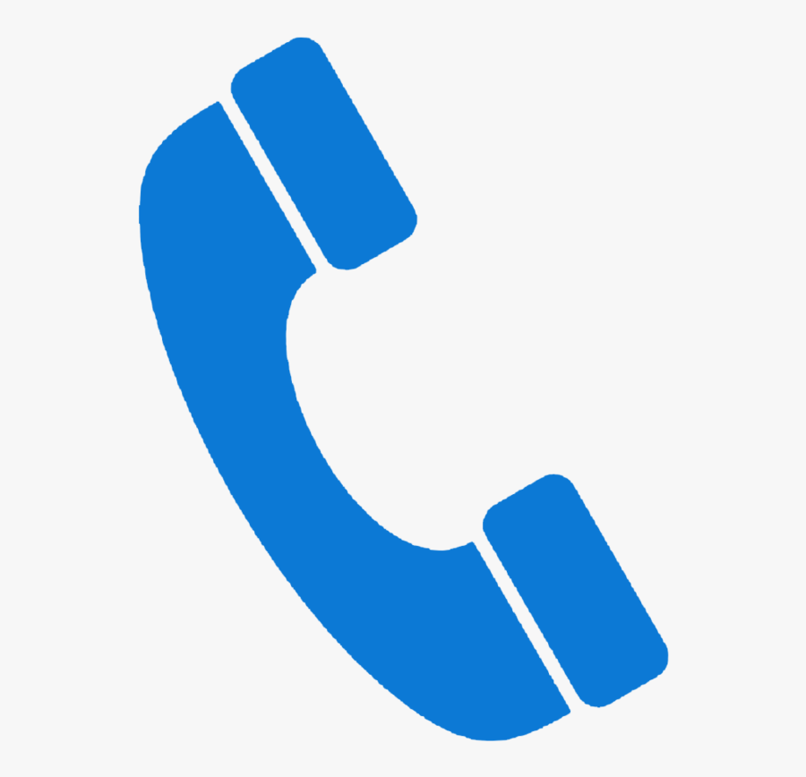 Email And Phone Icon , Transparent Cartoons - Phone Icon Blue Png, Transparent Clipart