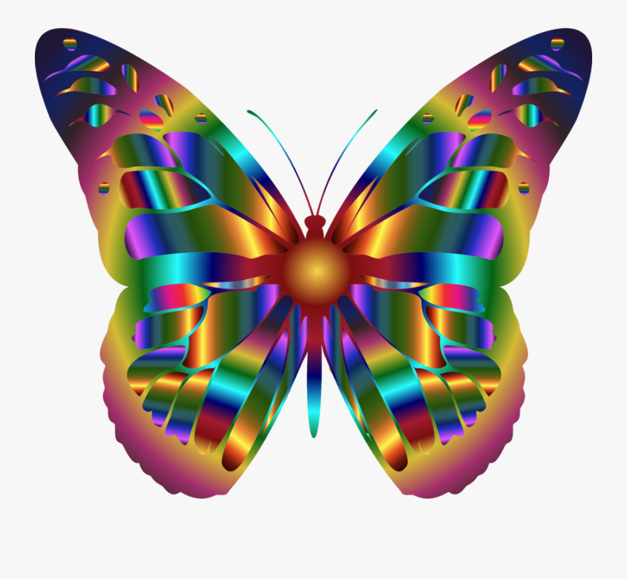 Monarch Butterfly Insect Swallowtail Butterfly Rainbow - Png Transparent Butterfly Clipart, Transparent Clipart
