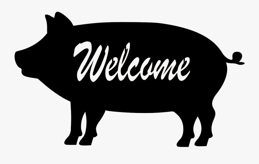 """Farm Animal Welcome""""  Class= - Vector Graphics, Transparent Clipart"""