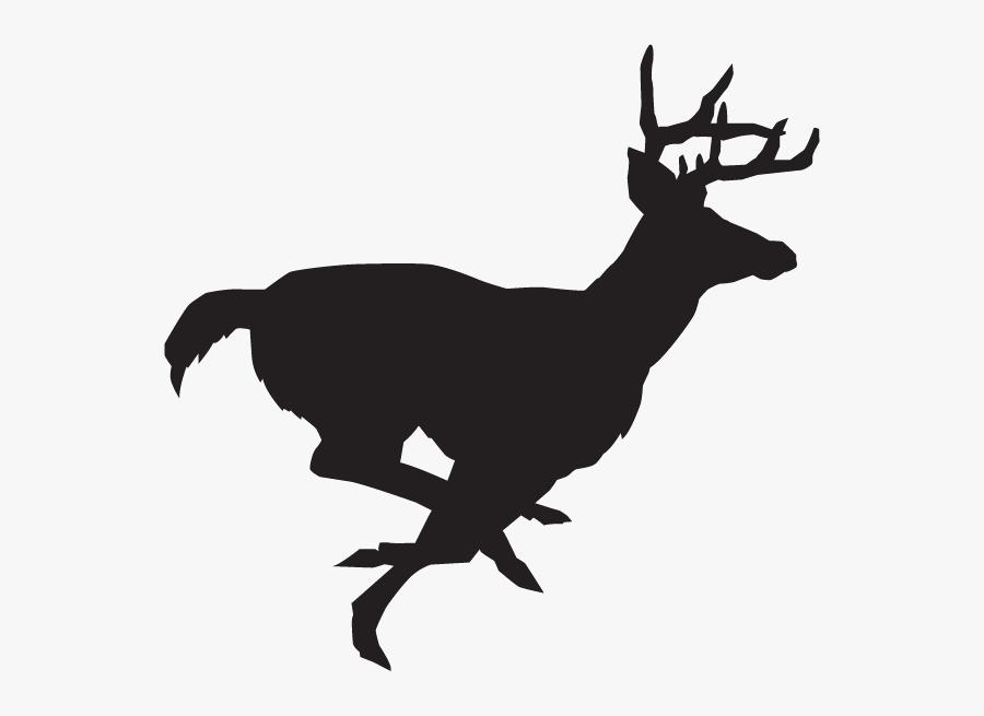 White-tailed Deer Clip Art Decal Deer Hunting - Deer Running Silhouette, Transparent Clipart