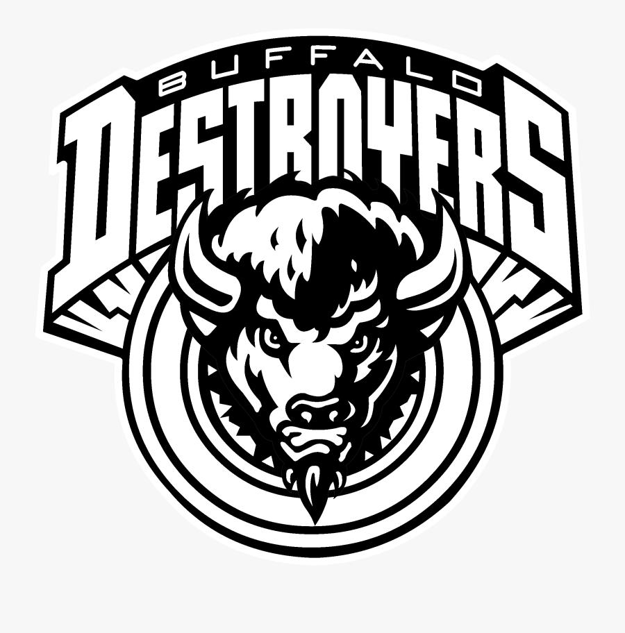 Destroyer Png -buffalo Destroyers Logo Black And White - Buffalo Destroyers Logo, Transparent Clipart