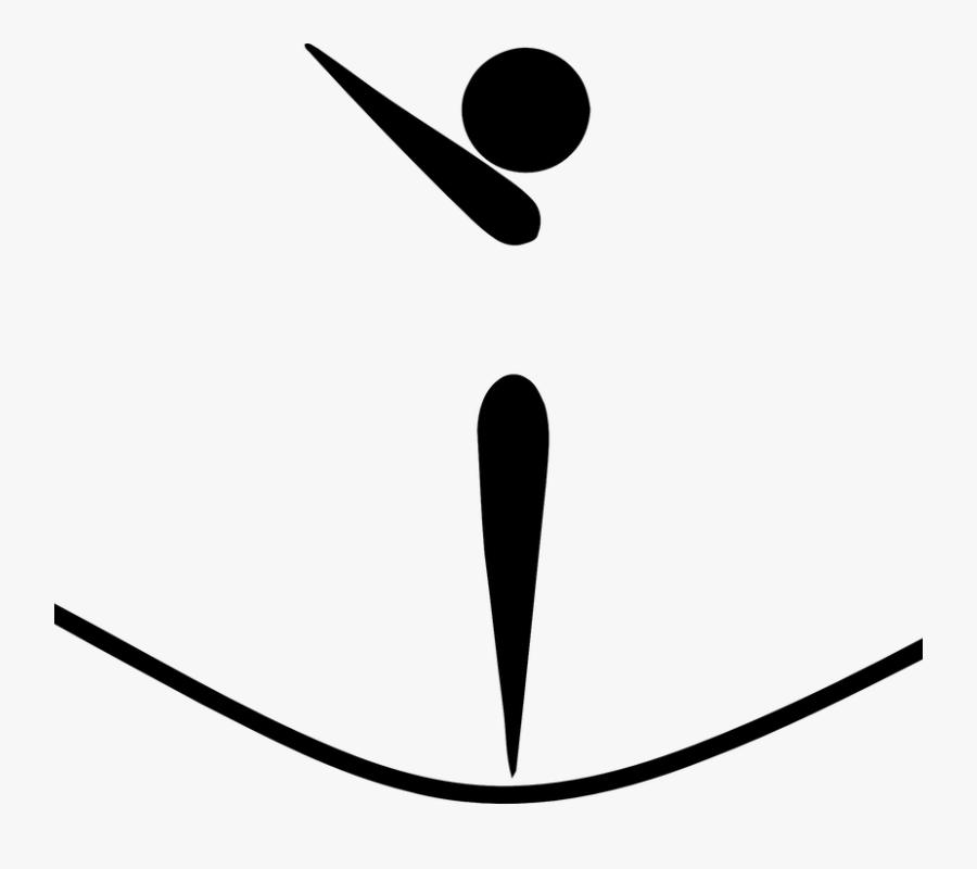 Trampolining, Trampoline, Gymnastics, Gymnastic - Gymnastics Pictogram, Transparent Clipart