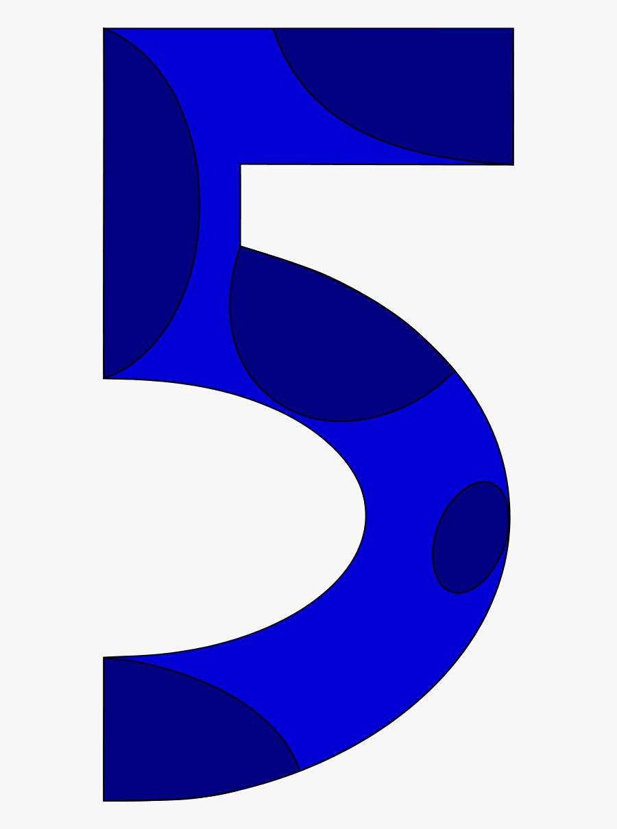Number Fiver, Transparent Clipart