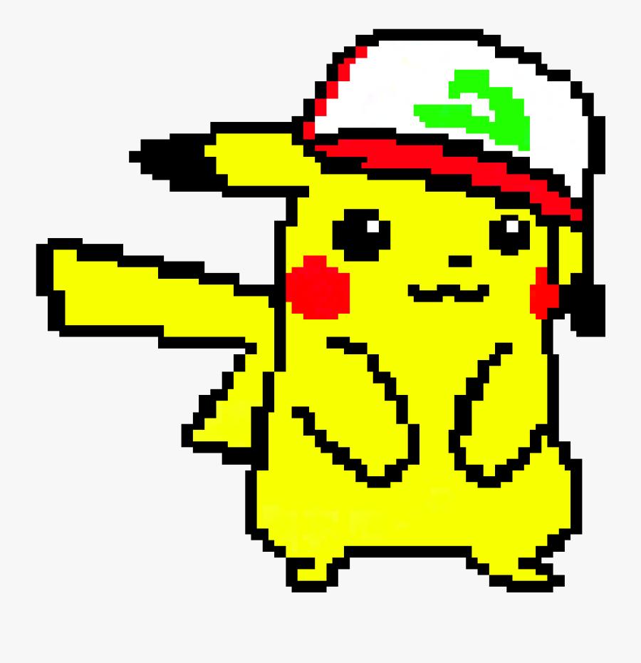 """Ash""""s Hat Png - Pikachu With Hat Pixel Art, Transparent Clipart"""