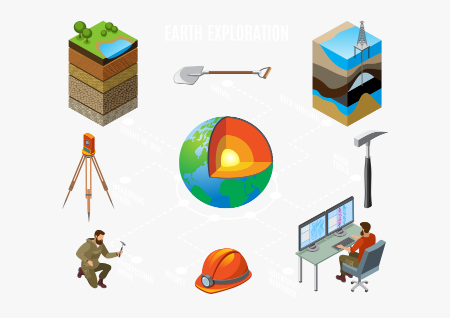 Earth Exploration - Geology, Transparent Clipart