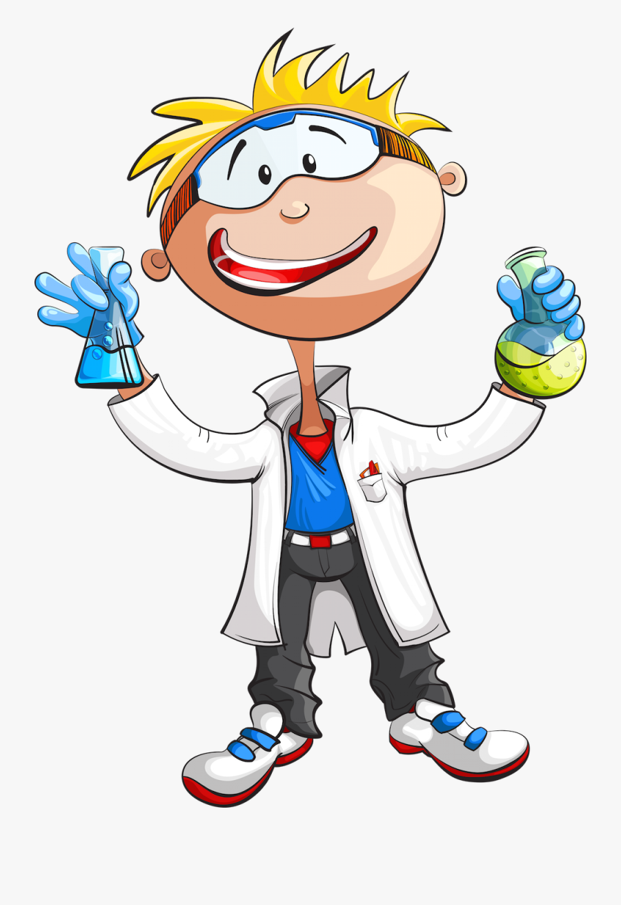 Science Boy Cartoon, Transparent Clipart