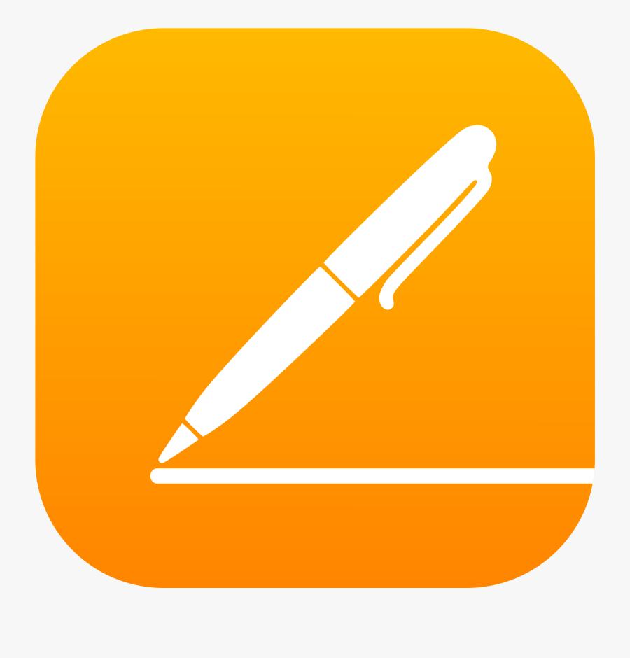 Pages Ios Logo Png Transparent - Logo Pages Mac Os, Transparent Clipart
