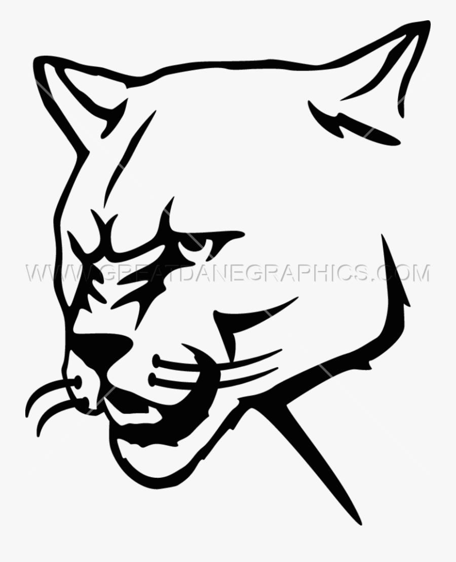 Mountain Lion Stencil, Transparent Clipart