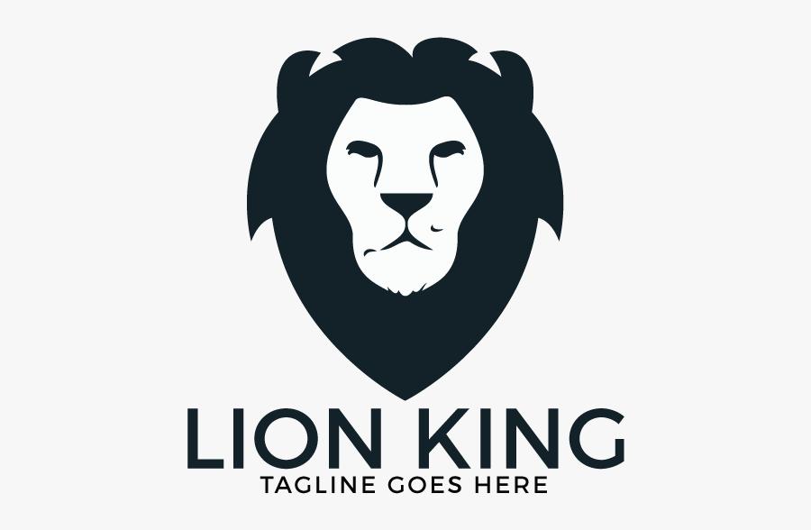 Lion Head Logo Design - Illustration, Transparent Clipart