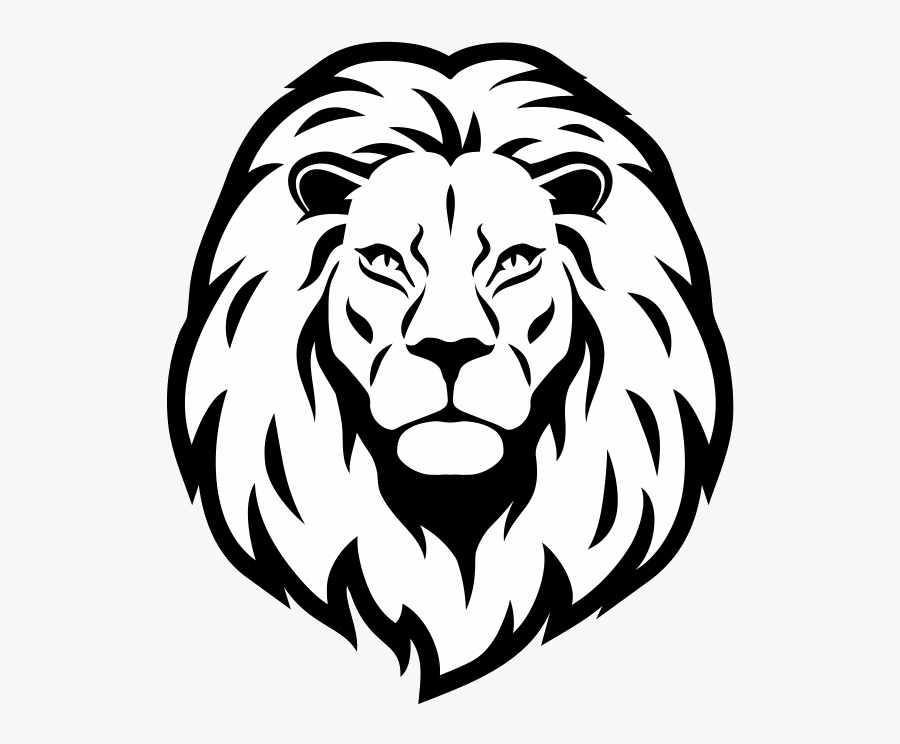 Lion Head Drawing - Lion Head Clipart Black And White, Transparent Clipart