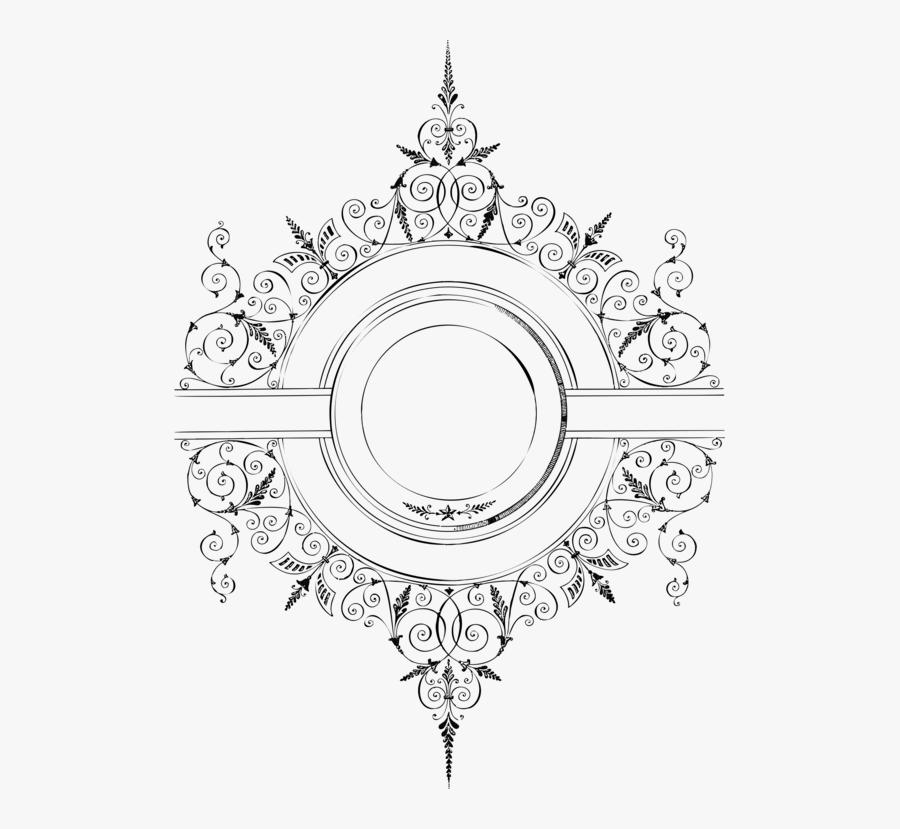 Metal,line Art,circle - Border Vintage Design Png, Transparent Clipart