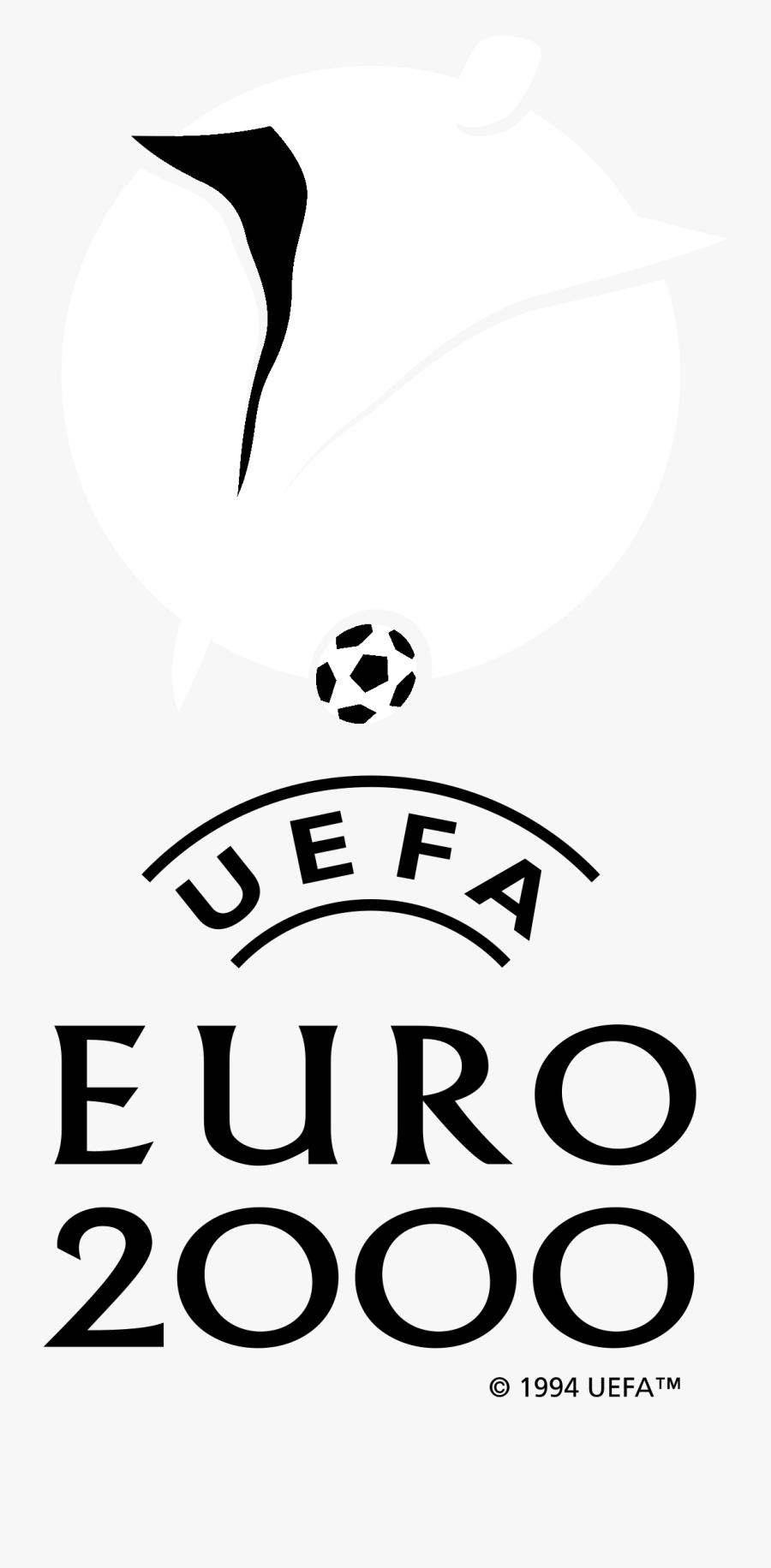 Uefa Euro 2000 Logo Black And White - Uefa Euro 2000, Transparent Clipart