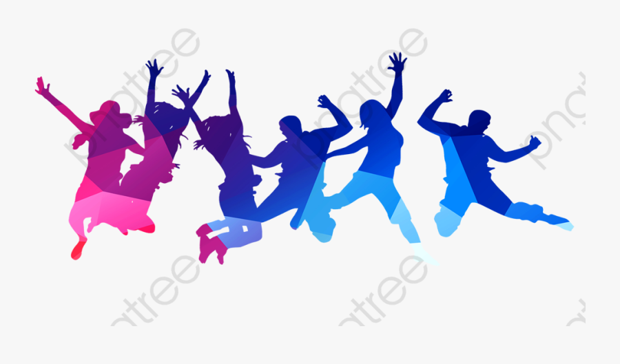 Jumping People Clipart - Try To Be Happy Without Any Reason, Transparent Clipart