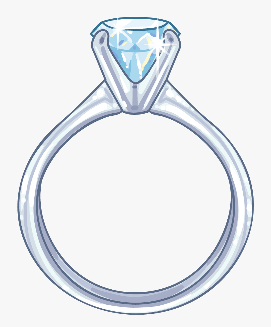 Wedding Ring Drawing Png Clipart , Png Download - Diamond Ring Drawing Png, Transparent Clipart
