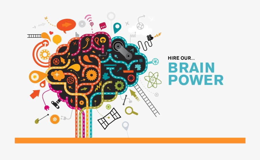 Transparent Creative Thinking Clipart - Creative Thinking Brain Power, Transparent Clipart