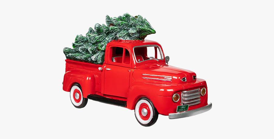 Transparent Trucks Christmas - Transparent Transparent Background Red Christmas Truck, Transparent Clipart