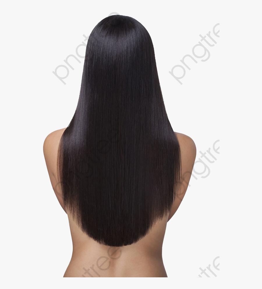 Transparent Long Clipart - Long Hair Back Png, Transparent Clipart