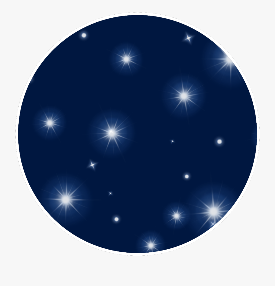 #night #stars #nighttime #freetoedit - Circle, Transparent Clipart