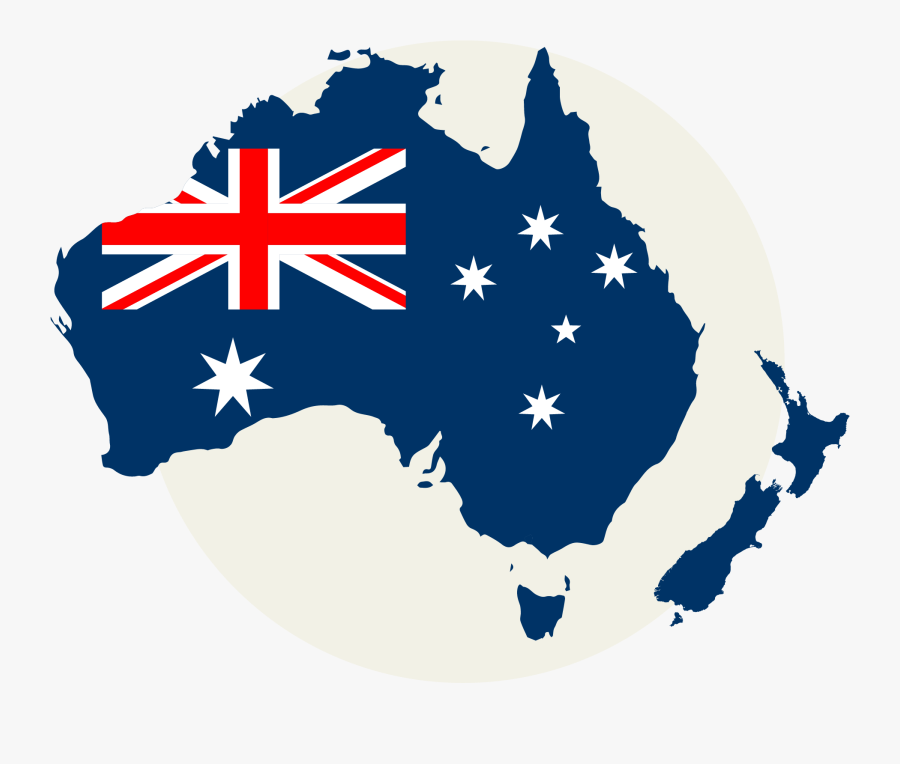 Flag Of Australia Map - Australia Map Flag Png, Transparent Clipart