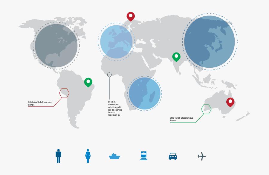Transparent Prezi Clipart - Map Of The World Prezi, Transparent Clipart