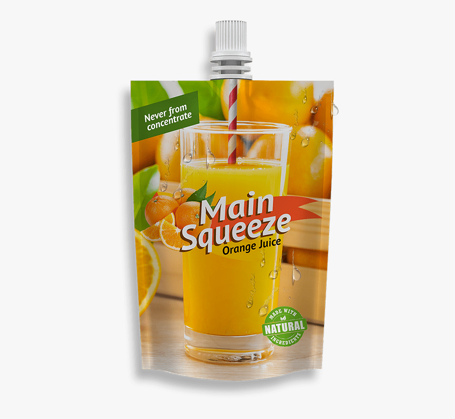 Fitment Pouches, Fitment Packaging Orange Fruit Packaging, - Orange Drink, Transparent Clipart