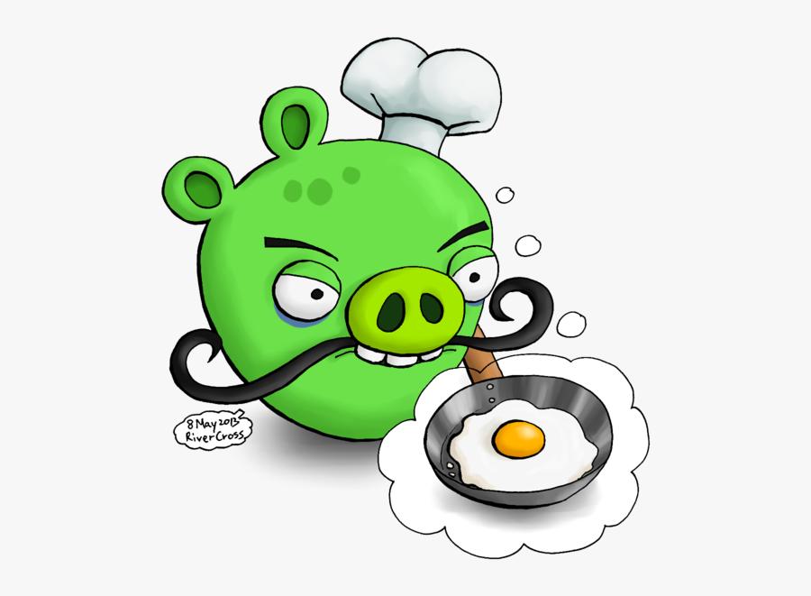 Transparent Angry Pig Clipart - Draw Angry Birds Piggies, Transparent Clipart