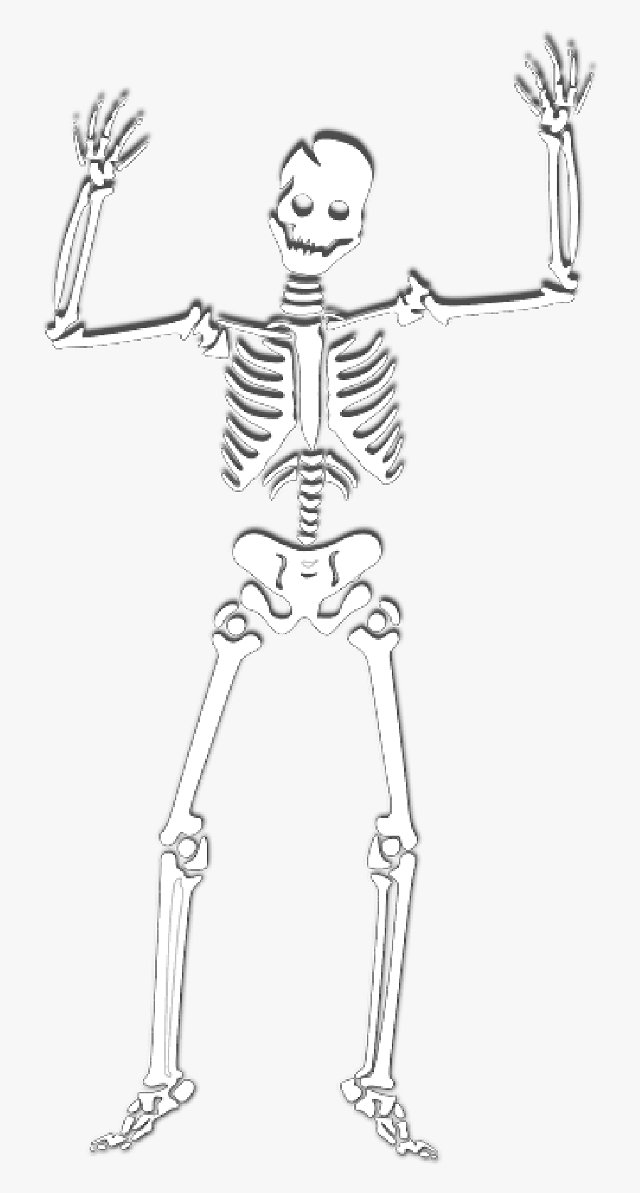 Skeleton Halloween Witch Corps Ghost Skull Spooky - Spooky Scary Skeletons Png, Transparent Clipart