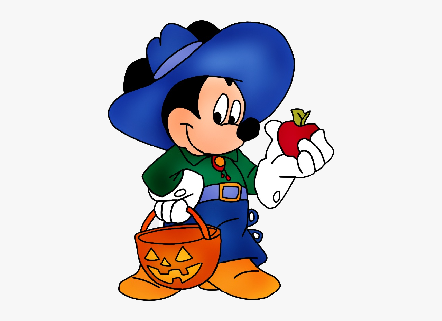 Disney Characters Mickey And Minnie Halloween Clipart - Halloween Mickey Mouse Characters, Transparent Clipart