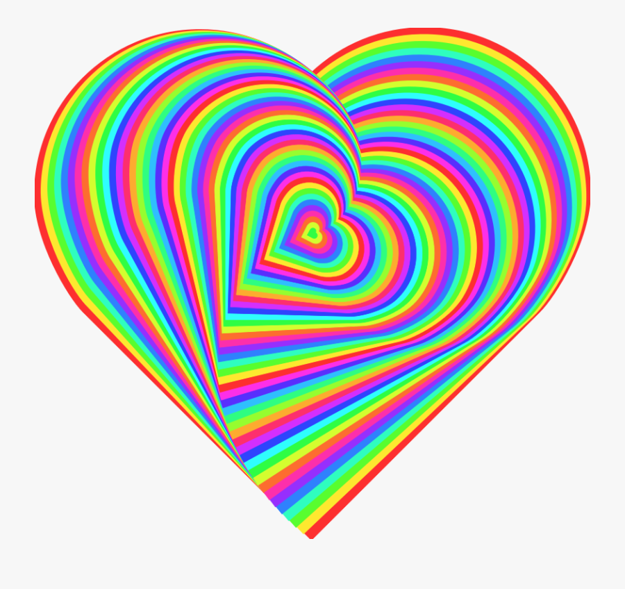 Heart Color Desktop Wallpaper Clip Art - Rainbow Heart Transparent Background, Transparent Clipart