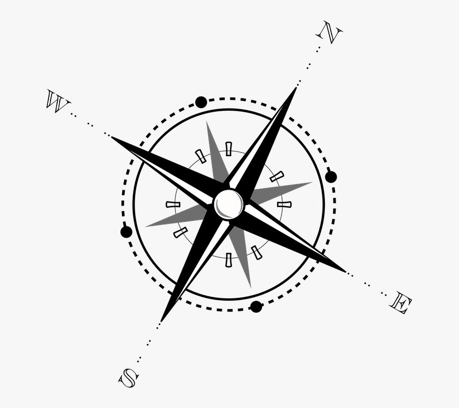 Compass, Map, Navigation, Wind Rose, Compass Rose - Compass Clip Art, Transparent Clipart