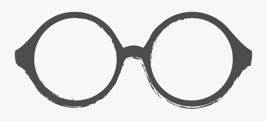 Clipart Glasses Grandpa - Round Glasses Clipart, Transparent Clipart