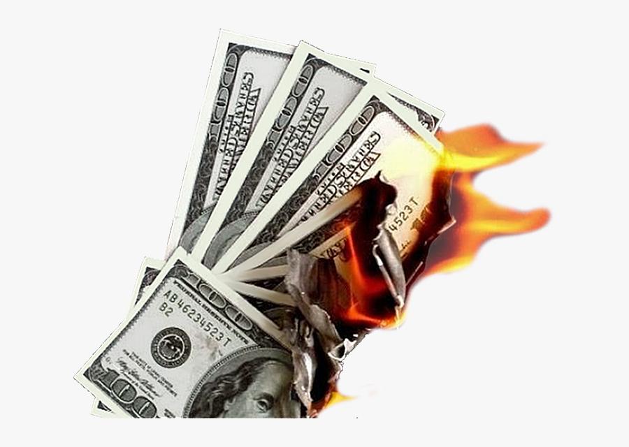 Burning Money Png - Burning Money Transparent, Transparent Clipart