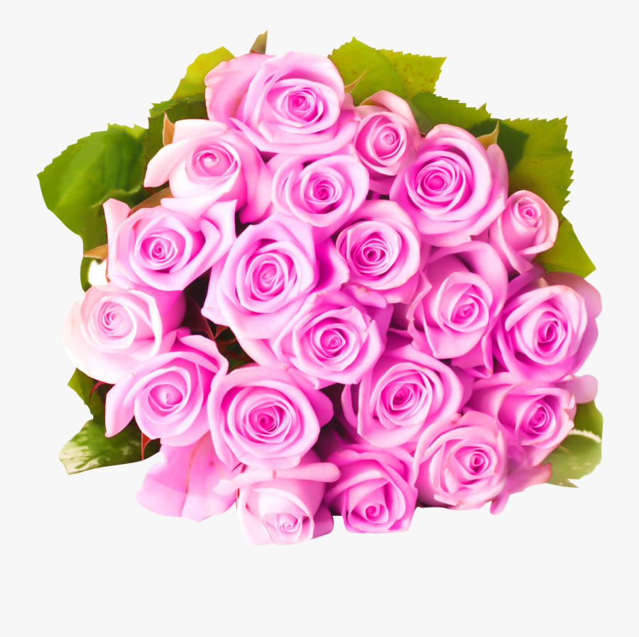 Flower Bouquet Pink Flowers Rose - Transparent Rose Bouquet Png Pink, Transparent Clipart