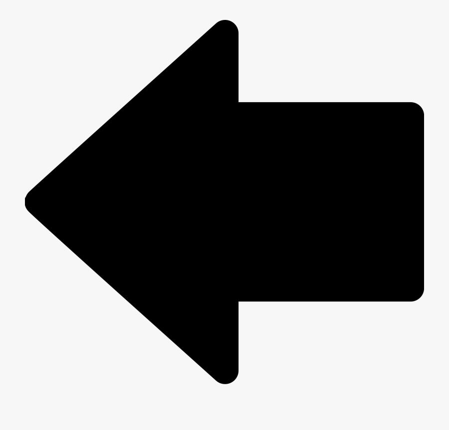 File Left Black Wikimedia - Left Black Filled In Arrow, Transparent Clipart