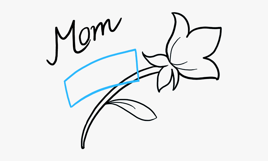 """How To Draw Mother""""s Day Flower - Drawings For Mothers Day, Transparent Clipart"""
