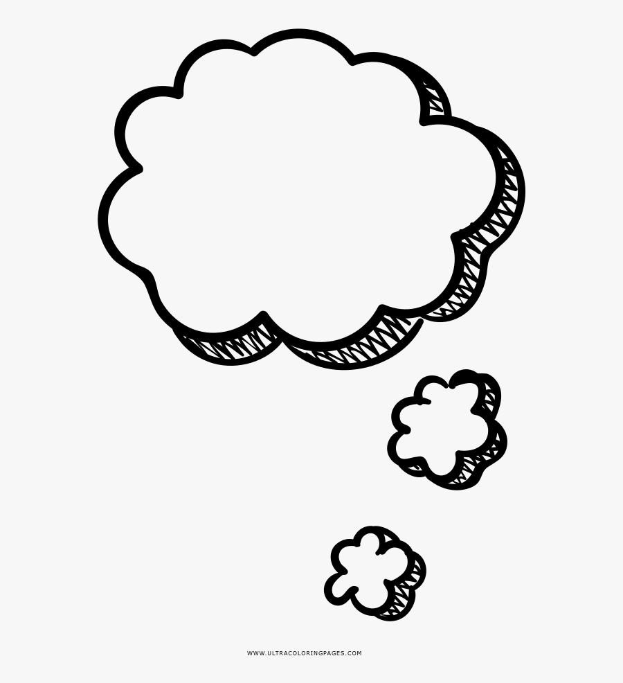 Transparent Thought Bubble Png Transparent - Thought Bubble Coloring Page, Transparent Clipart
