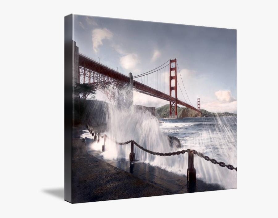 Clip Art Bridge From San Francisco - Golden Gate Bridge, Transparent Clipart