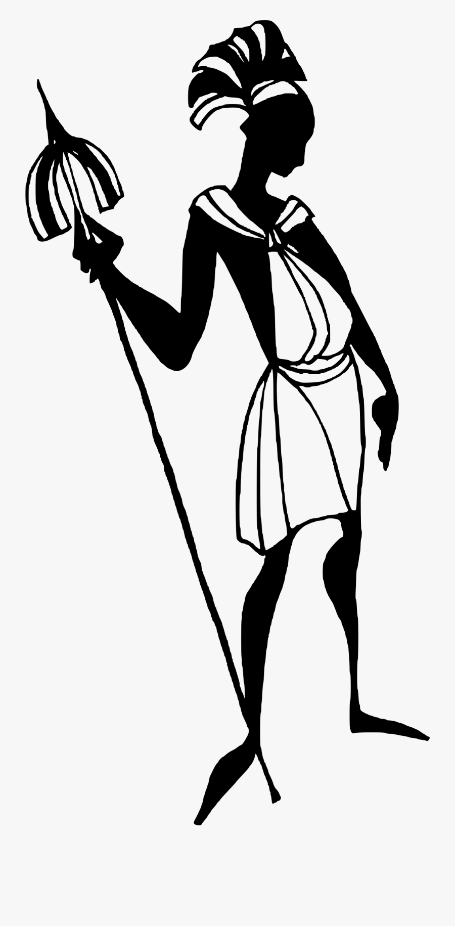 Clip African Drawing Person - Codigos Morales Del Pasado, Transparent Clipart