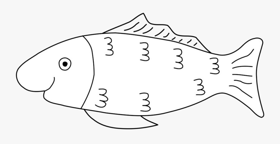 Line Art,head,angle - April Fools Fish, Transparent Clipart