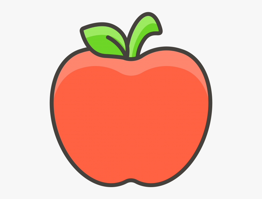 Red Apple Emoji Icon - แอ ป เปิ้ ล การ์ตูน Png, Transparent Clipart