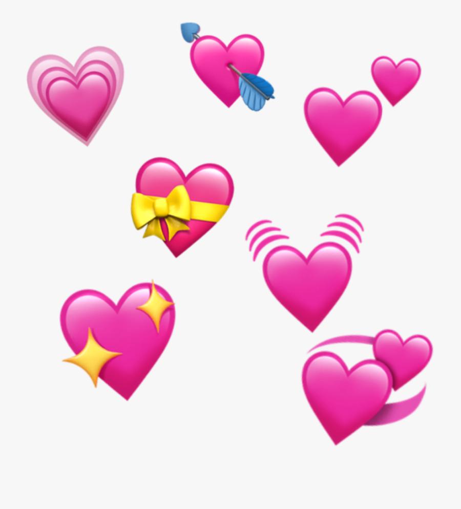 #freetoedit #edit #emoji #apple #ios #iphone #heart - Iphone Heart Emoji Transparent Background, Transparent Clipart