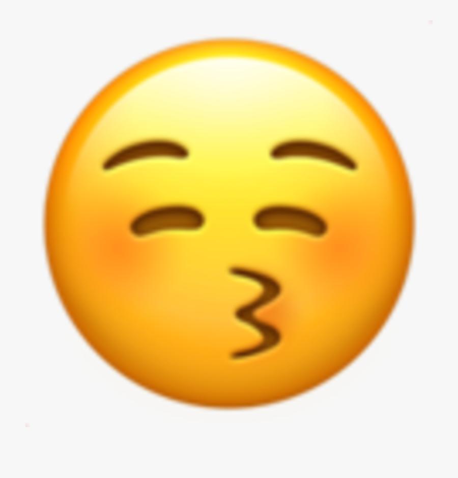 """7/ L""""émoji Bisou - 😚 Emoji, Transparent Clipart"""