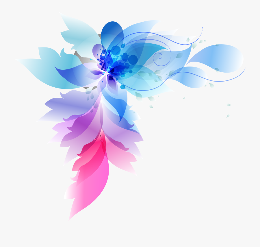Colorful Abstract Flowers Png Download - Abstract Flowers Png, Transparent Clipart